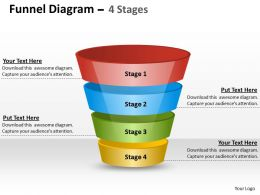 Funnel Diagram Split With Arrows On Top Style 4 Slides Diagrams Templates Powerpoint Info Graphics