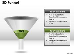Funnel Diagram With 20 Percent Value