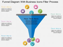 Funnel Diagram With Business Icons Filter Process Flat Powerpoint Design