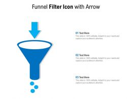 Funnel Filter Icon With Arrow