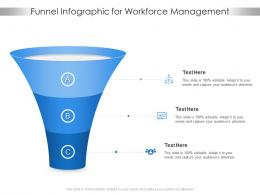 Funnel For Workforce Management Infographic Template