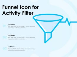 Funnel Icon For Activity Filter