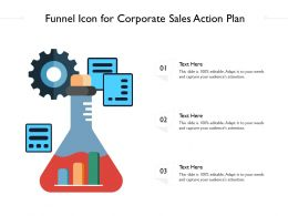 Funnel Icon For Corporate Sales Action Plan