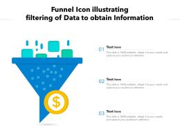 Funnel Icon Illustrating Filtering Of Data To Obtain Information