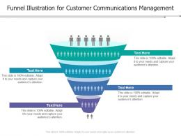 Funnel Illustration For Customer Communications Management Infographic Template