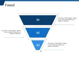 52537142 Style Layered Funnel 3 Piece Powerpoint Presentation Diagram Infographic Slide