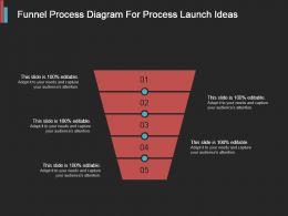 Funnel Process Diagram For Process Launch Ideas Powerpoint Topics