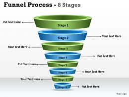 Funnel Process Diagram With 8 Stages