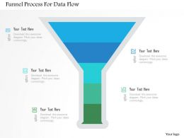 Funnel Process For Data Flow Flat Powerpoint Design