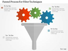 Funnel Process For Filter Techniques Flat Powerpoint Design