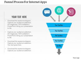 Funnel Process For Internet Apps Flat Powerpoint Design