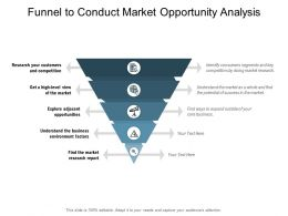 Funnel To Conduct Market Opportunity Analysis