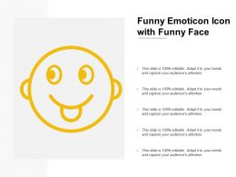 Funny Emoticon Icon With Funny Face