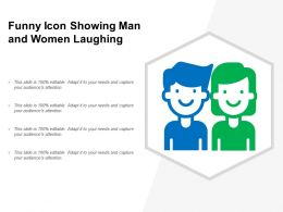 Funny Icon Showing Man And Women Laughing