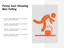 Funny Icon Showing Man Falling