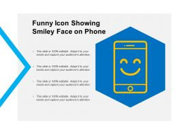 Funny Icon Showing Smiley Face On Phone