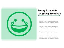 Funny Icon With Laughing Emoticon