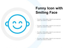 Funny Icon With Smiling Face