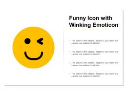 Funny Icon With Winking Emoticon