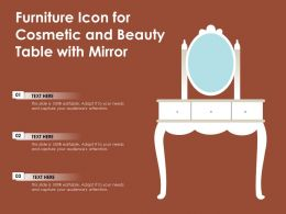 Furniture Icon For Cosmetic And Beauty Table With Mirror