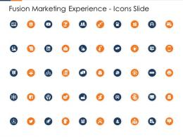 Fusion Marketing Experience Icons Slide Ppt Structure