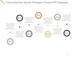 Future Business Growth Strategies Timeline Ppt Diagrams