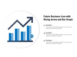 Future Business Icon With Rising Arrow And Bar Graph