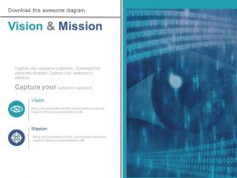 Future Business Vision And Mission Diagram Powerpoint Slides