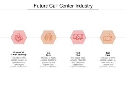Future Call Center Industry Ppt Powerpoint Presentation Icon Outline Cpb