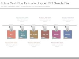 Future Cash Flow Estimation Layout Ppt Sample File