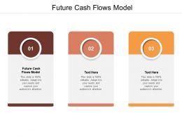 Future Cash Flows Model Ppt Powerpoint Presentation Pictures Slides Cpb