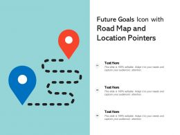 Future Goals Icon With Road Map And Location Pointers