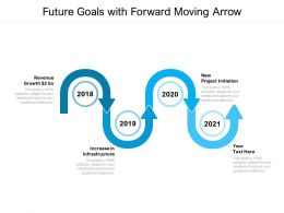 Future Goals With Forward Moving Arrow