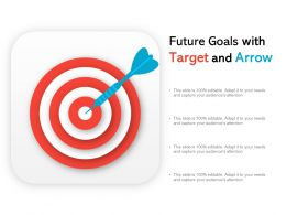 Future Goals With Target And Arrow