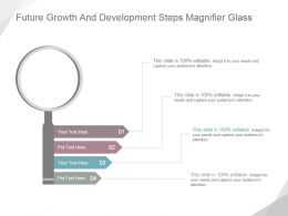 Future Growth And Development Steps Magnifier Glass Ppt Icon