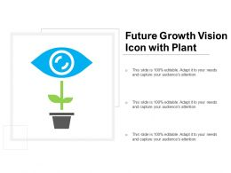 Future Growth Vision Icon With Plant