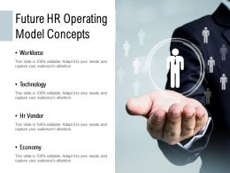 Future HR Operating Model Concepts