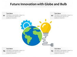 Future Innovation With Globe And Bulb