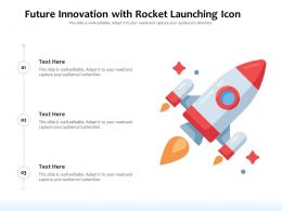 Future Innovation With Rocket Launching Icon