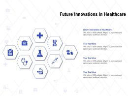 Future Innovations In Healthcare Ppt Powerpoint Presentation Pictures Layouts