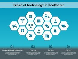 Future Of Technology In Healthcare Ppt Powerpoint Presentation Infographic Template Design
