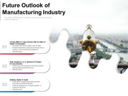 Future Outlook Of Manufacturing Industry