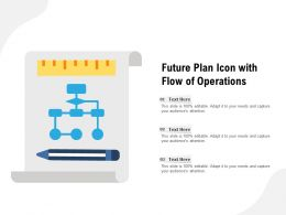 Future Plan Icon With Flow Of Operations