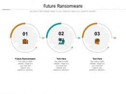 Future Ransomware Ppt Powerpoint Presentation Summary Graphics Cpb