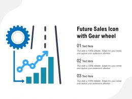 Future Sales Icon With Gear Wheel