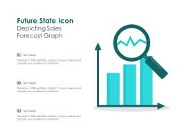 Future State Icon Depicting Sales Forecast Graph
