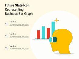 Future State Icon Representing Business Bar Graph