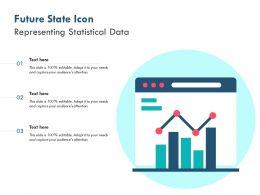 Future State Icon Representing Statistical Data