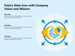 Future State Icon With Company Vision And Mission