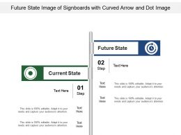 Future State Image Of Signboards With Curved Arrow And Dot Image